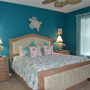 Coastal Themed Master Bedroom