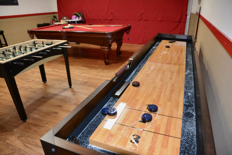 Shuffle Board in Game Room