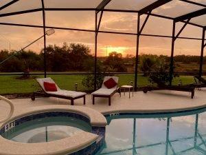 Private Pool at Sunrise